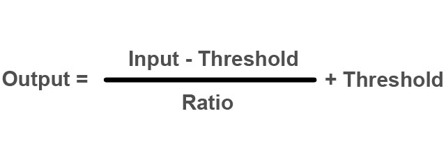 The Ratio of the Audio Compressor  What Does it Really Do