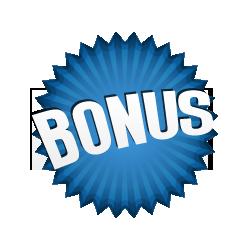 Bonus Burst Badge Blue