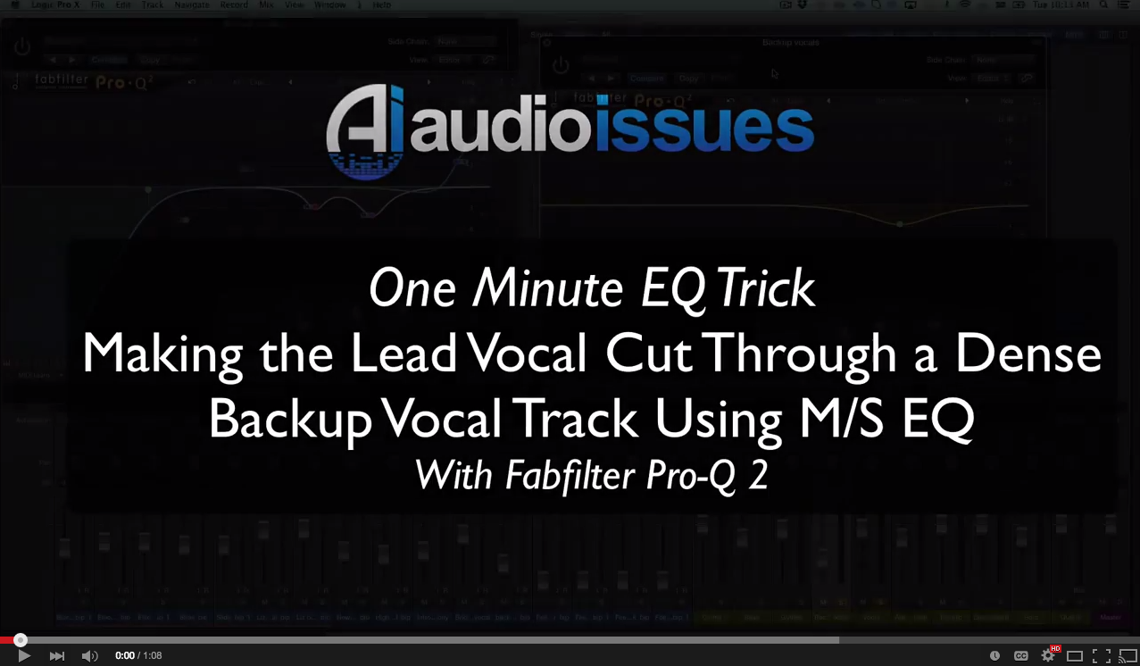 One Minute EQ Trick - Using Mid/Side EQ to Make Lead Vocals Cut Through a Dense Vocal Mix