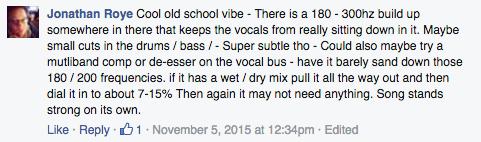 Low mid vocal buldup feedback