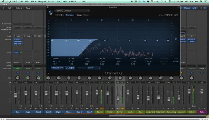One Minute EQ Trick – Filtering out low-end on drum reverbs