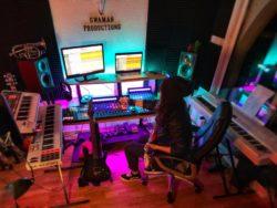 Ullie Swan home studio