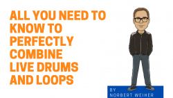 combine live drums and loops