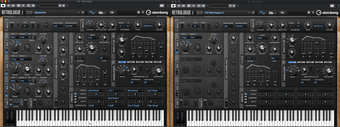 Synthesizer Programming - Two synths side by side