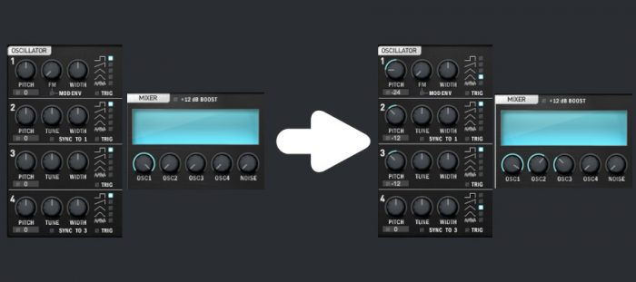 Synthesizer parameters - tuning the oscillators