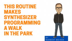 Synth Programing Blog Graphic with cartoon of Norbert