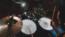 Drummer with drum set- Drum recording featured image