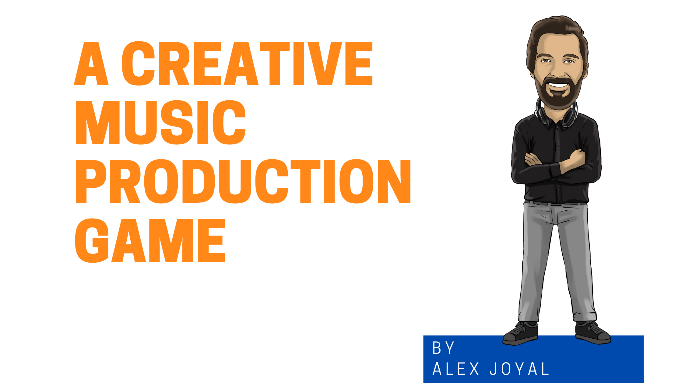 Limitations Crea A Creative Music Production Game graphic with cartoon version of Alex